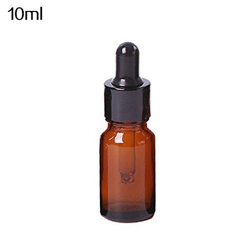 Amber Glass Liquid Reagenz-Pipette für ätherisches Öl, leer, 5-50 ml -