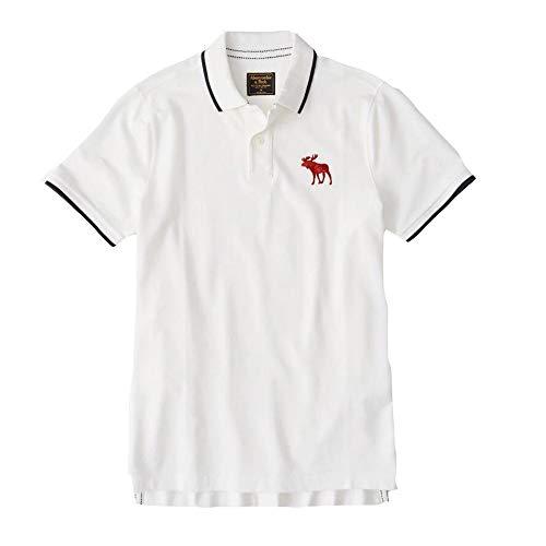 JHY Klassisches Mesh-Polo-Shirt für Herren, einfaches großes Logo-T-Shirt,1,L -