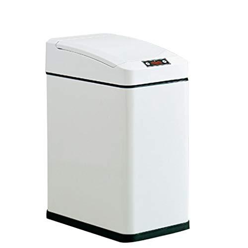 Xu Yuan Jia-Shop Secchi per la spazzatura Pattumiera di induzione Automatica Household Soggiorno Elettrico Intelligente Camera da Letto Bagno 7L Cestino (Color : White)