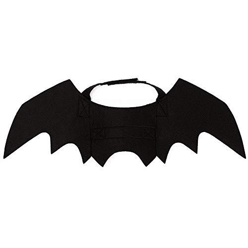 -Kostüm Hund Fledermaus Vampir Sweatshirts Hund Festival Kostüm Outfit Flügel (Color : Black, Size : 45x16cm) ()