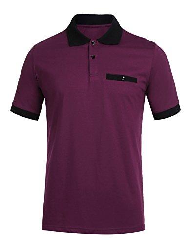 Burlady Trikot Herren Poloshirt T-Shirt Kurzarm Training Jersey Einfarbig Plaid Men's Polo Kragen Freizeit Sport