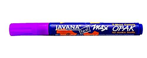 Kreul 92766 - Javana Texi Mäx Opak Stoffmalstift für helle und dunkle Stoffe, waschecht nach Fixierung, mit Rundspitze ca. 2 - 4 mm, violett -