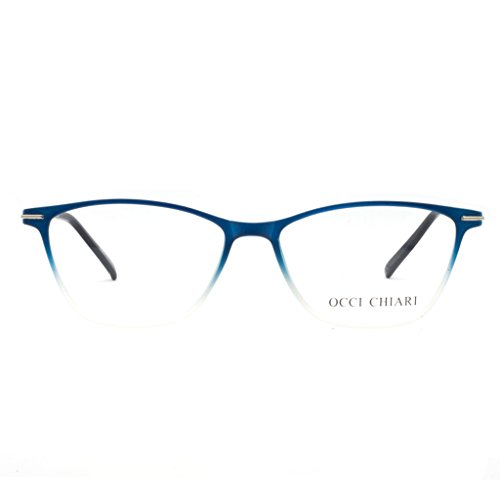 Dünne TR90 Lesebrille, rechteckig, modisch, Anti-Blue-Ray 1.0 1.5 2.0 2.5 3.0 3.5 4.0, Blau (C- Blue), Medium