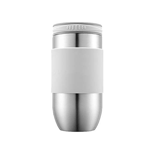 LIXIAOYUN Tasse d'acier Inoxydable de Tasse de café de Tasse de café de Mode de Voiture portative d'hommes et de Femmes d'acier Inoxydable de revêtement,a3,300ml
