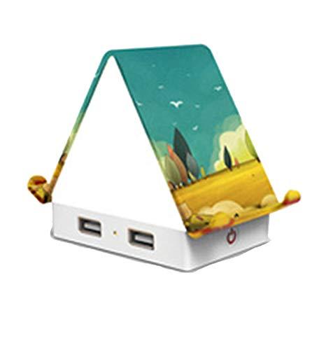 Multifunktionales Nachtlicht, USB Ladelicht, Creative Cabin Lampe, Handyhalter, Schlagschalter,Type3