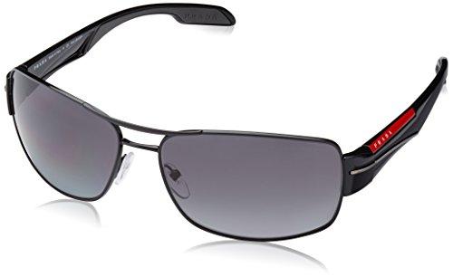Prada Sport Herren 0PS53NS 7AX5W1 65 Sonnenbrille, Schwarz (Black/Polar Grey),