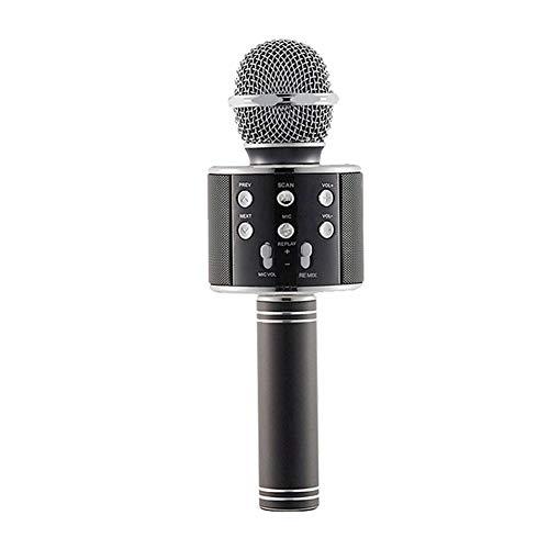 Kbsin212 Mikrofon für Kinder Drahtloses Mikrofon Karaoke Bluetooth Kinder mit Lautsprecher tragbar Kind Mädchen Karaoke Bluetooth Player Maschine für Kaninchenstall Schwarz