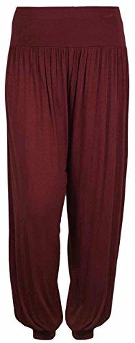 Pantaloni da donna stile Ali Baba da harem larghi sulle gambe, pantaloni taglia S/M–M/L wine pants