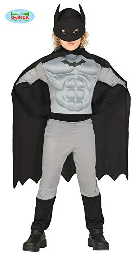Guirca Costume Vestito Abito Travestimento Carnevale Halloween Bambino Pipistrello, Batman (5/6 Anni)