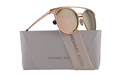 Michael Kors MK1030 Grayton Sunglasses Shiny Rose Gold w/Liquid Rose Gold Mirror Lens 52mm 10265A MK 1030