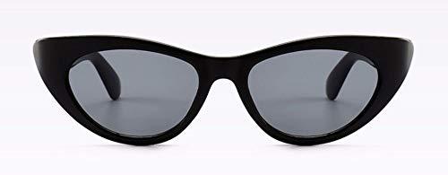 WSKPE Sonnenbrille Kleine Katze Auge Sonnenbrille Ovaler Rahmen Brillen Uv400 Schwarzen Rahmen Graue Linse