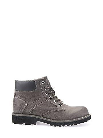 Geox Unisex-Erwachsene JR Axel Boy E Combat Boots, Grau (DK Grey/Black), 42 EU
