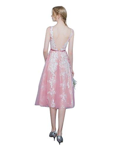 Beauty-Emily -  Vestito  - linea ad a - Donna Pink-mid