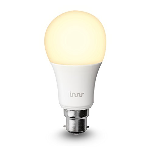 Innr B22 Smart LED Bulb, Warm White, dimmable (Compatible with Philips Hue* & Echo Plus) BY 165