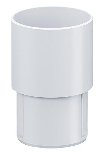 INEFA Steckmuffe DN 50, Weiß Kunststoff, Regenrinne, Dachrinne