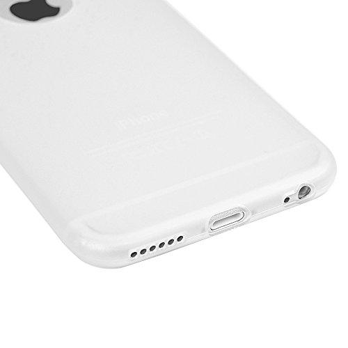 Badalink Coque pour iPhone 6 6S, Case Housse Étui Bumper Coque TPU Silicone Gel Mat Souple Flexible Ultra Mince Slim Léger Anti Rayure Antichoc Housse Étui Motif Herbe Transparent