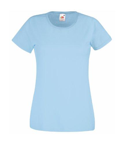 Fruit of the Loom - T-shirt -  Femme bleu ciel