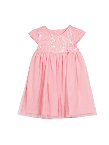 FS Mini Klub Baby Girls' Dress (89933E PI_18-24M, 18-24M, Pink)  available at amazon for Rs.239
