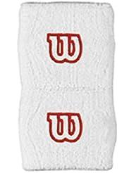 Wilson WR5602100 - Muñequera unisex, color blanco, talla NS
