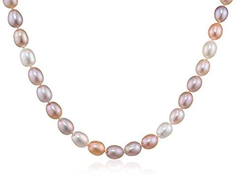Kimura Pearls 9 ct Yellow Gold 7.5 mm Natural Multicolour