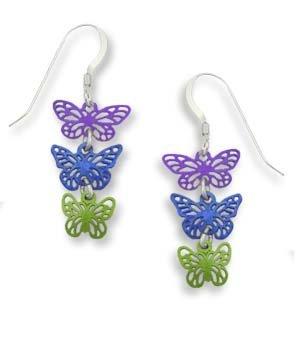 Ohrringe, Design Sienna Sky Cascading Schmetterling, Sterling-Silber 925, handbemalt, 616 -