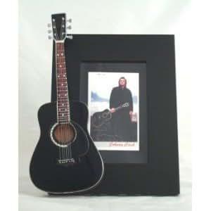 JOHNNY CASH Miniatur Gitarre Foto Rahmen Man in Black