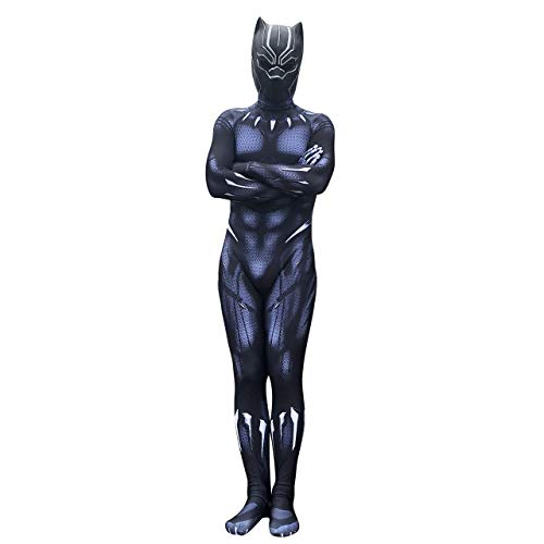Gaosheng Cosplay Kostüm Marvel's The Avengers Black Panther Suit Schwarz für Cosplay Party