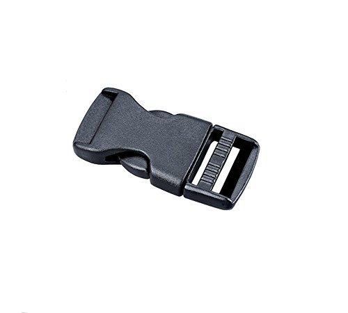 Boucles noires à déclenchement latéral ajustable en plastique noir de 1 po (25 mm) avec mécanisme de déclenchement rapide pour artisanat et bricolage (6 pièces)