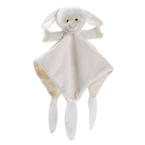 JYJM Neugeborenes weiches Baby Teddy Bear Puppet Spielzeug Geschenk Snuggle Baby Tröster Decke kleines Tier Tröster Handtuch (, Weiß, Size: 30 x 30cm Approx)