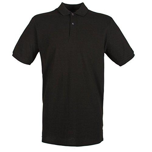 Henbury Herren Modern Poloshirt Schwarz