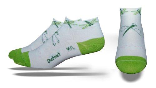 Defeet Damen Socken Speede Libelle, Damen, White/Light Green, Medium/Large -