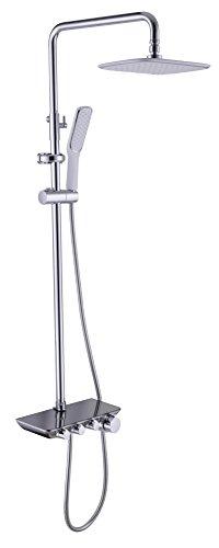 NIHE Robinet de douche à haute température de troisième qualité Robinet de douche à haute pression en céramique à base de cuivré et à chaud , B - Garantie de 5 ans