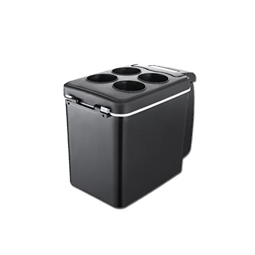 JIBO Portable Car Refrigerator Mini Shoulder Car Dual-Use Low Noise Energy Saving Refrigerator (6L),Black