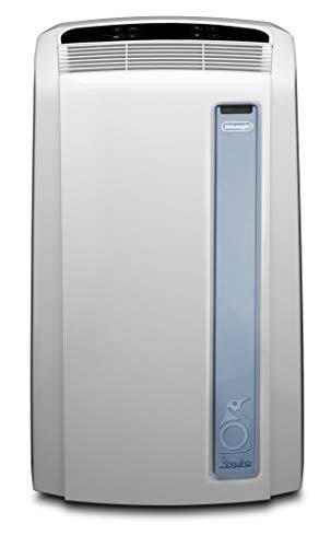 De\'Longhi Pinguino PAC AN98 ECO Silent - mobiles Klimagerät mit Abluftschlauch, Klimaanlage für Räume bis 95 m³, Luftentfeuchter, Ventilationsfunktion, 24h-Timer, 2,7 kW, weiß/blau