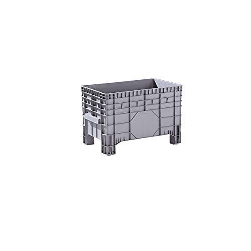 Conteneur grande capacité en polyéthylène - capacité 285 l, 4 pieds avec passages pour fourches - 1 pièce et + - Conteneur Conteneur de stockage Conteneur en plastique Roll-conteneur Bac de stockage Bac-chariot Bacs de stockage Bacs-chariots Caisse de