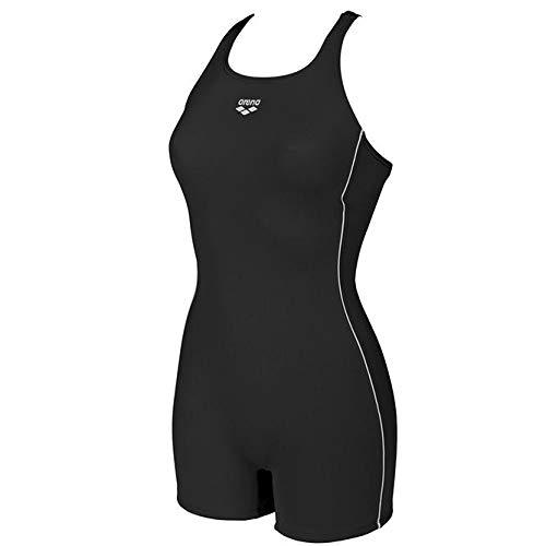 arena Damen Sport Badeanzug mit Bein Finding, Black, 46
