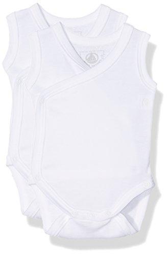 Petit Bateau 15092, Body Mixte Bébé, Blanc (Special Lot 00), 0-3 mois (Taille Fabricant: N46) Lot De 2