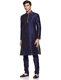 Manyavar Men's Regular Fit Blended Kurta & Churidar Set (S952358)