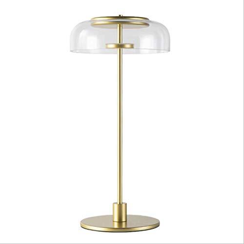 DTTDV Tiffany Style Stained Glass Tischlampe Nachtlicht mit breitem geblasenem Glasschirm for das Wohnzimmer am Bett, Orange -