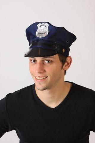 Foxxeo 10273 | Polizeimütze Mütze Polizist Polizei Kostüm blau USA Navy Cop US Gr....