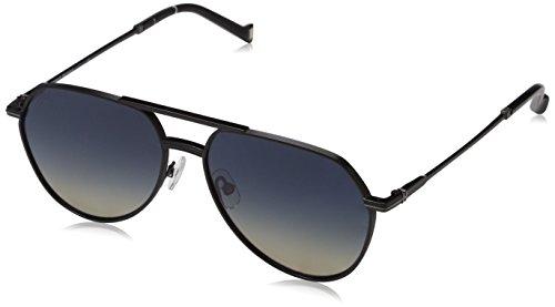 Hackett London HSB869 Sonnenbrille, Schwarz (Black), 57