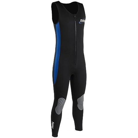 Palm Moby 3mm Flatlock Front Zip Long John Wetsuit Black/Blue NA610 Wetsuit Sizes - Medium Large