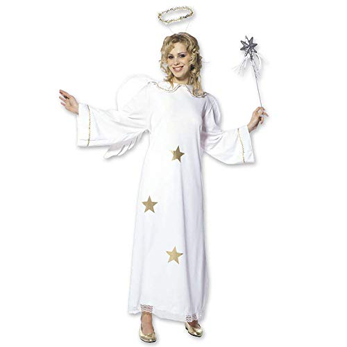 Frauen Flügel Kostüm Engel - Widmann 35111 - Erwachsenenkostüm Sternenengel, Kleid mit Flügel und Heiligenschein, Größe S