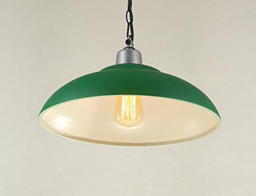 Wenseny Retrò Paralume Ferro Battuto Lampadario verde Grande Pot copertina ( Non Includere la Sorgente Luminosa ) Verde ( 1 Lampholder )