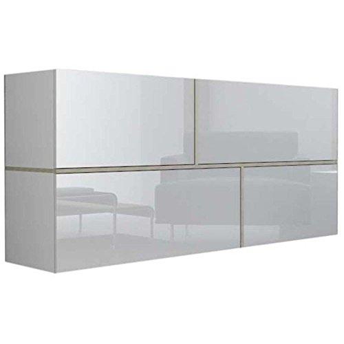 JUSTyou Goyo Kommode Sideboard Wohnzimmerschrank (HxBxT): 80x170x40 cm Farbe: Weiß Sonoma Eiche