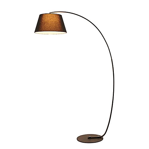 Floor Lamps Arched Arc Metal For Living Room Black And Linen Shade 185cm High Modern Style Floor Lamp For Bedroom Study Reading Lamp Xiangy Color Shade Black Buy Online In Antigua
