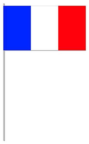10 Fähnchen * FRANKREICH * als Deko für Mottoparty oder Länder-Party // Flaggen Fahnen Papierfahnen flag france rot weiss blau