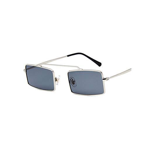 FGRYGF-eyewear2 Sport-Sonnenbrillen, Vintage Sonnenbrillen, Vintage Sun Glasses Women Men Square Shades Rectangular Frame Sunglasses Gafas Oculos Des Lunettes For Female SilverGray
