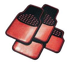 set-completo-di-tappetini-per-auto-in-gomma-finitura-metallica-colore-rosso-nero