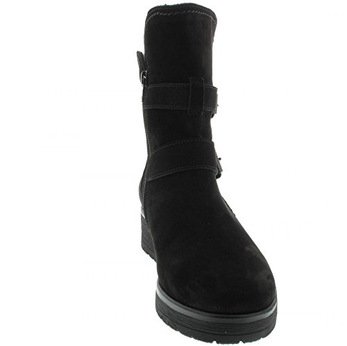 Gabor Shoes Comfort Sport, Stivali Donna, 47 EU Nero (47 Schwarz Mel.)